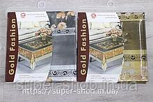 Скатертина силіконова 165x120 см золото/срібло