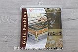 Скатерть силиконовая Gold Fashion 165x120 см золото серебро на обеденный стол нарядная прозрачная с рисунком, фото 4