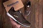 Мужские кожаные кроссовки  Reebok Classic Leather Trail Chocolate реплика, фото 5