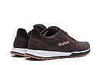 Мужские кожаные кроссовки  Reebok Classic Leather Trail Chocolate реплика, фото 6