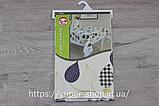 Скатерть овальная из клеенки Тee Time 152x122 см на силиконовой основе антискользящяя с кружевом, фото 6