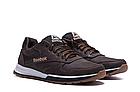 Мужские кожаные кроссовки  Reebok Classic Leather Trail Chocolate реплика, фото 2