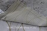 Скатерть овальная из клеенки Тee Time 152x122 см на силиконовой основе антискользящяя с кружевом, фото 3