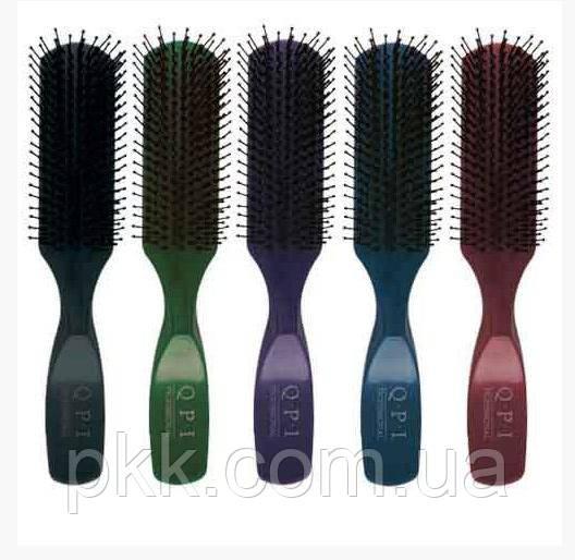 Расчёска для волос Q.P.I. PROFESSIONAL массажная пластиковая цветная 20см РМ-9543