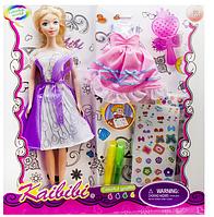 Кукла с набором одежды.Детский игровой набор для девочки.