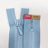 Тракторная неразъемная молния Riri 7 14-30 см, разные цвета голубой, 140