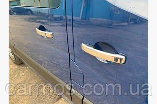 Накладки на ручки Opel Vivaro 2015-2019, нерж. 4 шт CARMOS