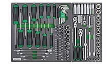 Тележка с набором инструментов TOPTUL 7 секций 261ед. GE-26105, фото 3