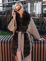 Пальто с песцом баргузин под пояс