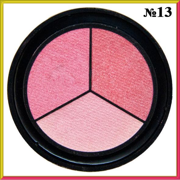 Тени для Век Qianyu MS 1203 Трехцветные Матовые Розовые Оттенки Тон 13 Декоративная Косметика