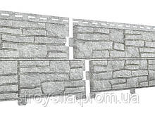 Сайдинг Стоун Хаус Сланец (светло-серый)  2000х225 мм Ю-Пласт