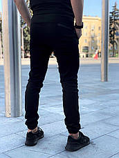"""Зауженные мужские брюки черные коттоновые Intruder """"Chesst""""  в размере S(46) M(48) L (50) XL(52) XXL (54), фото 2"""