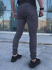 """Зауженные мужские брюки серые коттоновые Intruder """"Chesst""""  в размере S(46) M(48) L (50) XL(52) XXL (54), фото 2"""