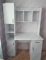 Белый письменный стол Эридан. Большой рабочий стол для ученика и студента