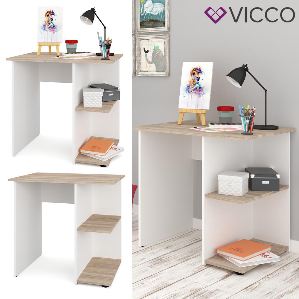 Письменный стол Vicco Simple, 82х60, белый, сонома