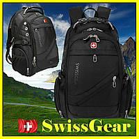 Рюкзак швейцарский городской .Рюкзак с дождевиком 8810 black . Для путешествий, водонепроницаемый, спортивный