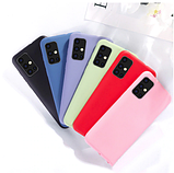 Ультратонкий чехол-бампер с микрофиброй внутри для Samsung A50 / A50s / A30s Цвет Бежевый, фото 5