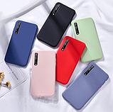 Ультратонкий чехол-бампер с микрофиброй внутри для Samsung A50 / A50s / A30s Цвет Бежевый, фото 6
