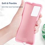 Ультратонкий чехол-бампер с микрофиброй внутри для Samsung A50 / A50s / A30s Цвет Бежевый, фото 4