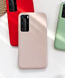 Ультратонкий чехол-бампер с микрофиброй внутри для Samsung A50 / A50s / A30s Цвет Бежевый, фото 2