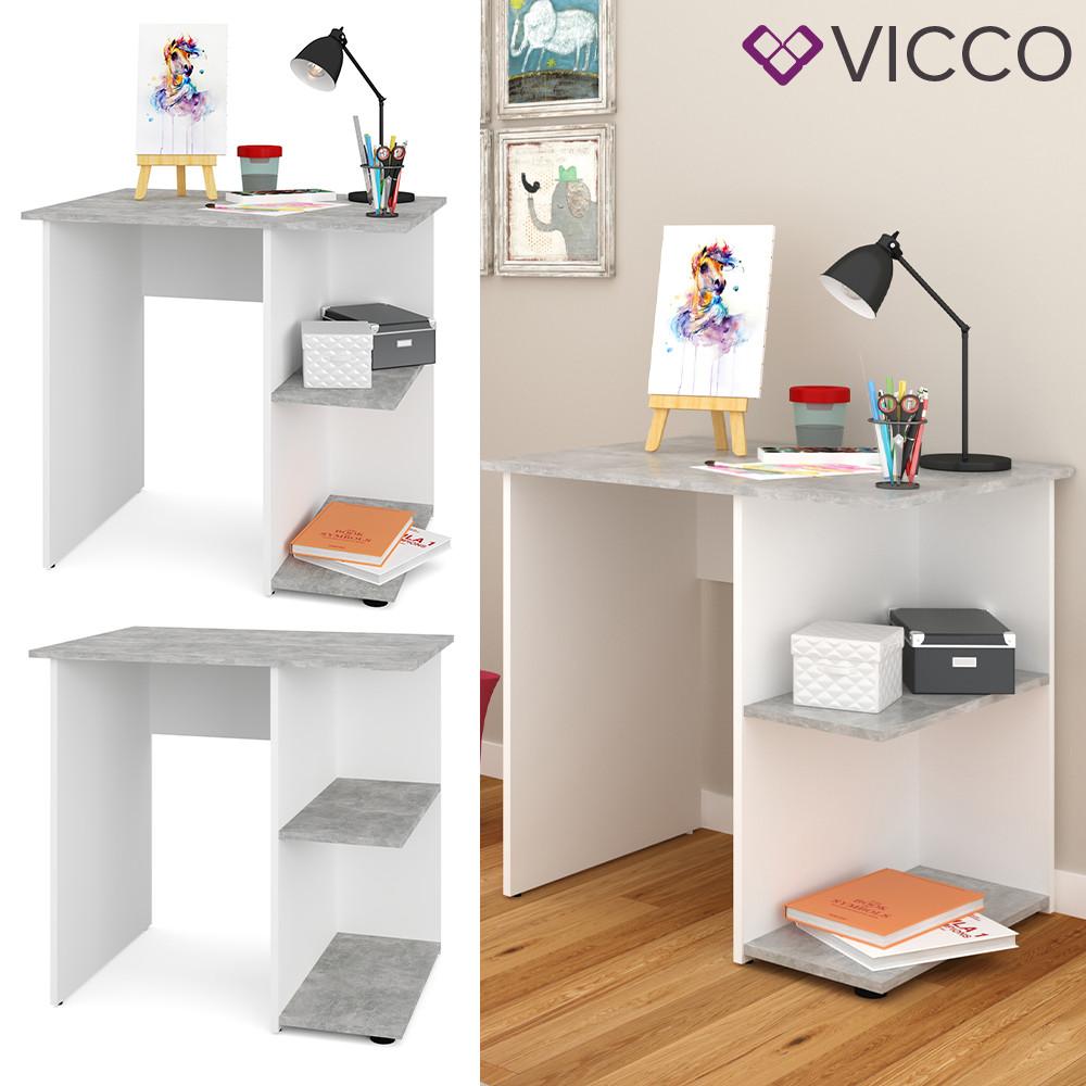 Письменный стол Vicco Simple, 82х60, белый, бетон