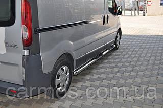 Трубы боковые для Opel Vivaro 2015-2019 нерж d60mm