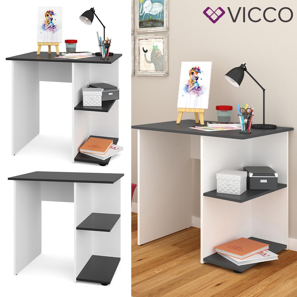 Письменный стол Vicco Simple, 82х60, белый, антрацит