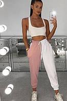 Женский спортивные штаны двухцветные