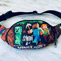 Детская сумка бананка Minecraft для мальчика Майнкрафт