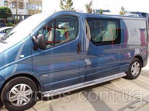 Пороги боковые (подножки) для Opel Vivaro 2015-2019 нерж d51mm