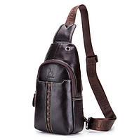 Мужской кожаный рюкзак Laoshizi Luosen On style, фото 1