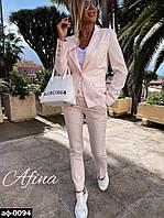 Женский стильный брючный костюм с пиджаком С, М +большие размеры Разные цвета, фото 1