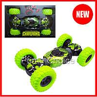 Трюковая машинка-перевёртыш на радиоуправлении Hyper Champions Climber 2588 Зеленая. Игрушка для детей