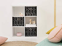 Полка - шкаф для книг, стеллаж для дома 6 ячеек P0016