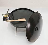 Сковородка из диска бороны 30см с крышкой