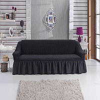 Чехол на диван трехместный, Турция Темно-серый