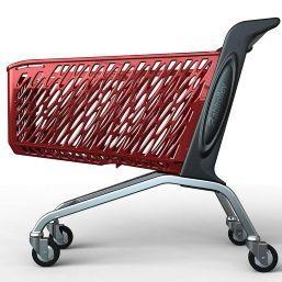 Покупательская тележка пластиковая RABTROLLEY MAXI Valzer 210 л
