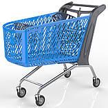Покупательская тележка пластиковая RABTROLLEY MAXI Valzer 210 л, фото 5