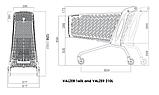 Покупательская тележка пластиковая RABTROLLEY MAXI Valzer 210 л, фото 4