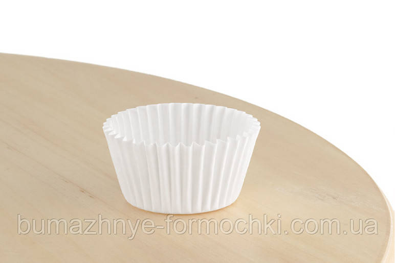 Білі паперові форми для випікання, 30х24 мм