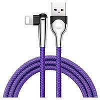 Кабель угловой для зарядки телефона,смартфона Lightning Apple iphone BASEUS Sharp-bird 100см |2.4A| Фиолетовый