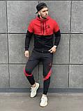 Reebok мужской черный спортивный костюм с капюшоном.Осень 2020 Рибок мужской черный спортивный костюм на замке, фото 2
