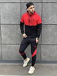 Reebok мужской черный спортивный костюм с капюшоном.Осень 2020 Рибок мужской черный спортивный костюм на замке, фото 3