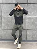 Reebok мужской черный спортивный костюм с капюшоном.Осень 2020 Рибок мужской черный спортивный костюм на замке, фото 6