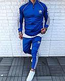 Adidas мужской осенний спортивный костюм черного цвета на замке!, фото 3