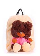 Детский плюшевый рюкзак с медведем