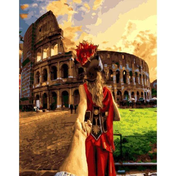 Картина по номерам Следуй за мной Рим Brushme 40 х 50 см GX21779