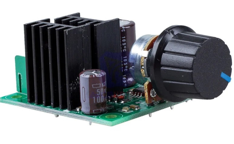 ШИМ контроллер. Управление скоростью двигателя постоянного тока с регулировкой 12-40В 10А