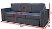Прямой диван Аскольд 3-А Вика (раскладной), фото 2
