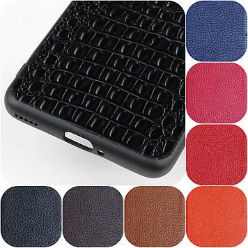 """Samsung A80 оригинальный противоударный чехол панель накладка бампер НАТУРАЛЬНАЯ кожа """"SIGNATUR"""""""